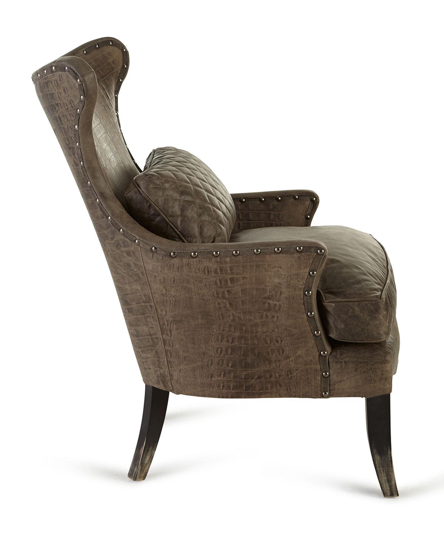 美式做旧老虎椅 个性真皮复古老虎椅图片