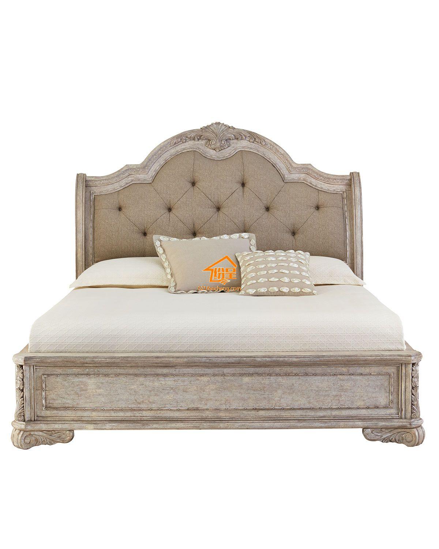 美式床实木做旧复古双人床高品质保证图片
